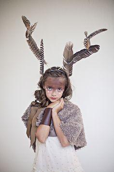 Babiekins Magazine| Featurekins//Conceptual Deer Costume by Julie Martin