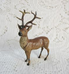 Early Metal Standing Reindeer marked Germany ~ SOLD