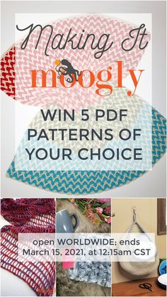 Valentine's Day may have passed for this year, but I wanted to spread a little love with the Making It Moogly Pattern Giveaway! Open worldwide, enter to win 5 Moogly pattern PDFs of your choice on Mooglyblog.com! Open WORLDWIDE, ends March 15, 2021 at 12:15am CST. Void where prohibited. #crochet #giveaway #patterngiveaway Pdf Patterns, Crochet Patterns, Crochet Ideas, Crochet Yarn, Free Crochet, Yarn Stash, Pattern Library, The Make, Giveaways