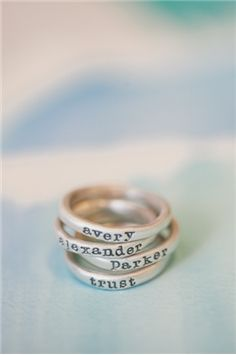 stacking rings {sterling silver} $39 each