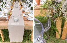 Our Raw Tables with Ghost chairs & wimbledon chairs