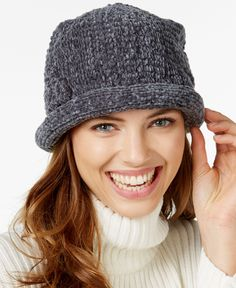 ae8b38c5d84 August Hats Chenille Roll Up Hat Handbags   Accessories - Macy s