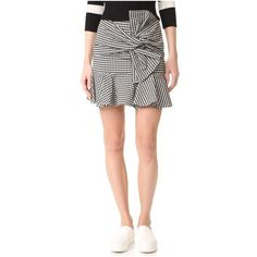 Veronica Beard Picnic Bow Miniskirt (5.307.850 IDR) ❤ liked on Polyvore featuring skirts, mini skirts, black, short skirts, preppy skirts, mini skirt, bow skirt and bow mini skirt