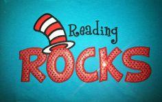 Dr. Seuss Reading Rocks Shirt by sewcutesy on Etsy, $25.00  I own this bad boy