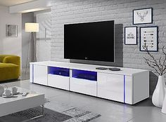 Fiesta LCD TV Stand In High Gloss White With LED Light | Pinterest | Tv  Stands, High Gloss And Tv Units