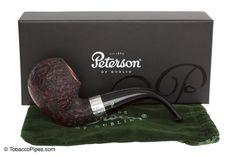 TobaccoPipes.com - Peterson Sherlock Holmes Le Strade Rustic Tobacco Pipe…
