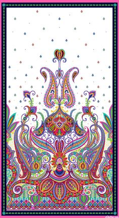 """Imperial Paisley - Maharaja's Garden - 24"""" x 44"""" PANEL-Quilt Fabrics from www.eQuilter.com"""