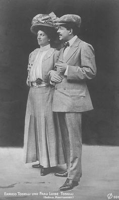 Archduchess Luise of Austria-Tuscany. (1870–1947) with her second husband Enrico Toselli, an Italian composer.