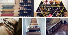 Declutter your closet with these genius shoe storage ideas. Pvc Shoe Racks, Shoe Storage, Storage Ideas, Diy Home Projects Easy, Space Saving Shoe Rack, Ikea, Baby Boy, Inexpensive Home Decor, Rack Design