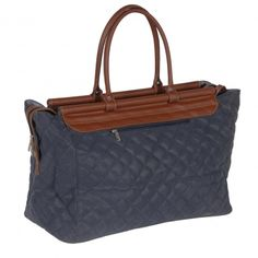 Blue Quilted Travel Bag