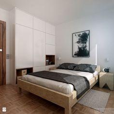 Poturzyńska | Lublin - Średnia sypialnia małżeńska, styl nowoczesny - zdjęcie od H+ Architektura
