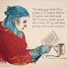 Lucy is drawing - Eternal Sunshine Of The Spotless Mind