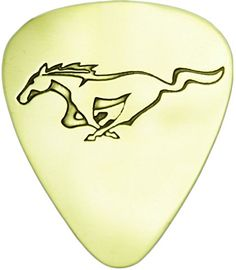 """myLife Hard Luxury """"Round Tip"""" Guitar Pick Made of Genuine Solid Brass {Yellow Gold Colored """"Mustang Horse Logo"""" - Perfect for Creating Dynamic Tones on Any Type of Acoustic or Electric Guitar} [Single Pack] myLife Brand Products http://www.amazon.com/dp/B00VXTXSV0/ref=cm_sw_r_pi_dp_Ghemvb0Q9NGT1"""