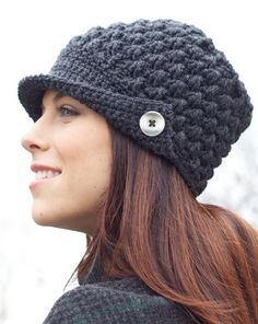 Crochet Women's Peak Cap