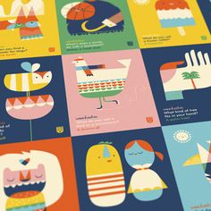 These beautiful illustrations are by Wee Society  and form part of series of designs based on kids jokes called 'Wee Hee Hee's. Wee Societ...
