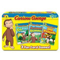 Curious George 3 Card Games Tin.    $19.99