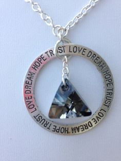 Affirmation Circle Necklace Engraved Necklace by FaithHopeInspire, $33.00