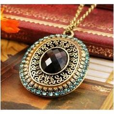 Buy Blue Pendant Fashion Necklace in Zinc Alloy and Rhinestones by The Pari