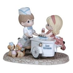 Precious Moments You Melt My Heart  An adorable sweet summer scene. Limited to only 3000 pieces. Figurine is made of porcelain. $150.00 Click Image to Buy. #Precious Moments