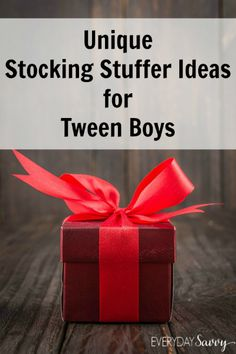 Unique Stocking Stuffer Ideas for Tween Boys I love finding really unique stocking stuffers that are both useful and fun. Instead of choosing items from the dollar store or dollar section, I like to buy a few nicer stuffers and then add things like candy, soaps, socks and other useful items to fill those stockings. Tween boys can be really hard to shop for, so we are here to help with our list of unique stocking stuffers for tween boys.  If you want to save this cool list of ideas for…