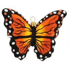 Monarch Butterfly Hanging Glass Ornament