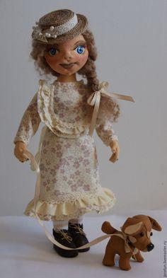 Купить Лиза - бежевый, шляпка, собака, полоски, Лиза, подарок 2017, хлопок, трикотаж Princess Zelda, Dolls, Fictional Characters, Art, Baby Dolls, Art Background, Puppet, Kunst, Doll