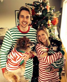 Kristen Bell, Dax Shepard Wear Matching Christmas Pajamas: Picture - Us Weekly