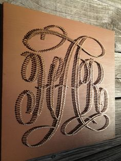 Custom Nail & String Art Logo (Monogram, Wedding, Event, Business). $125.00, via Etsy.