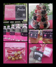Pirates and Princess Birthday Party Invitation & by SIMONEmadeit, $13.95