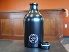 The 64oz Wander and Rumble Beer Growler is designed and finished with the craft beer drinker at the center of every part of the process. - Constructed of 23 gauge, 304 food-grade, single-walled stainless steel.- 100% toxin, BPA, phthalate and PVC free.- High-grade passivation process to assure fresh pours without any metallic aftertaste. - Deep-threaded cap to keep beer fully carbonated after filled.- Comes printed with standard government warnings required by br...