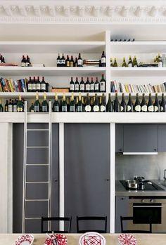 Hauteur sous plafond optimisée dans la cuisine - Rénover un appartement dans de l'ancien - CôtéMaison.fr