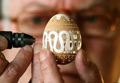 delicate egg carving