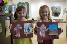 Kindergarten: Me As An Artist! elementary art education self portrait