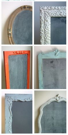 another great use for old frames- with chalkboards!
