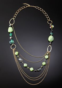 Beaded Chain Statement Necklace