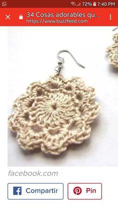 Crochet Earrings, Jewelry, Fashion, Sew, Moda, Jewlery, Jewerly, Fashion Styles, Schmuck