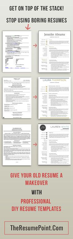 Resume Template Modern Resume Template Professional CV Template - mac pages resume templates