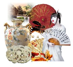 """""""Geisha"""" by pattysporcelainetc ❤ liked on Polyvore featuring art, vintage and country"""