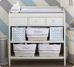 Shop ultimate changing table from Pottery Barn Kids. Find expertly crafted kids and baby furniture, decor and accessories, including a variety of ultimate changing table. Baby Boy Room Decor, Baby Bedroom, Baby Boy Rooms, Baby Boy Nurseries, Modern Nurseries, Babies Nursery, Changing Table With Drawers, Baby Changing Tables, Pottery Barn Changing Table