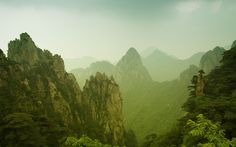In Chinese culture, mountains have been revered as active deities which respond to prayers and sacrifices.  Pictured here is Yellow Mountain.