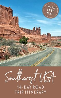 A two-week Southwest USA road trip itinerary: The perfect Southwest USA road trip itinerary featuring five states six National Parks scenic drives stunning views and quirky roadside attractions. 7 Places, Best Places To Travel, Places To Visit, Road Trip Usa, Best Road Trips, West Coast Road Trip, Monte Carlo, Südwesten Usa, Nationalparks Usa