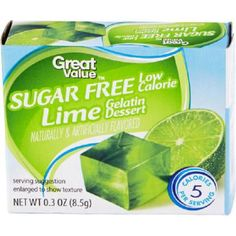 Sugar-Free Tropical-Flavored Jell-O with Healthy Chia Seeds: Sugar Free Lime Jello