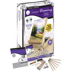 Simply Complete Drawing Artist Studio 34-piece Set $19.97