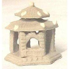 Arbor Unglazed. www.teeliesfairygarden.com . . . Make your Zen Fairy Garden look historical with this antique unglazed arbor tower. #fairyarbor