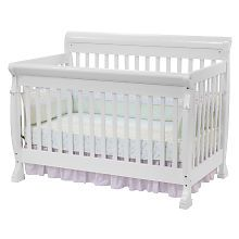 Kalani 4-in-1 Convertible Crib with Toddler Rail - White if it's a girl!
