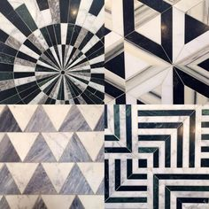 """""""Super new ... 2015 Coastal Living Trendsetter Kelly Wearstler just debuted her first tile collection for Ann Sacks at the Kitchen & Bath Show in Las…"""""""