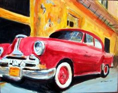 Jeff Sterling (©2011 artmajeur.com/jeffsterling) I have many friends in Florida born in Cuba. Last year..when I flew back to Miami after 3 amazing weeks in Greece..my airport van driver told me that he is a member of the Classic American Car Club of Miami-Dade County,Florida..and the members LOVE the old Buicks,Chevrolets,Pontiacs,Cadillacs and Oldsmobile that have been seen still on the streets (las calles) of Havana..and throughout Cuba.Size 14 inches X 11 inches acrylic on hardboard.