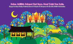 Illustration of Hari Raya Home vector art, clipart and stock vectors. Wallpaper Ramadhan, Eid Mubarak Card, Selamat Hari Raya, Invitation Cards, Invitations, House Vector, Eid Al Fitr, Love Husband Quotes, Love Your Skin