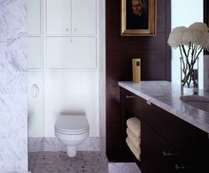 Apply Over the Toilet Storage to Maximize Your Bathroom Space - Stylish Wooden Vanity and Marble Top beside Clean White Over the Toilet Storage on Tile Flooring