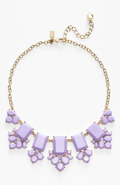 A touch of lavender for spring | Kate Spade statement necklace.